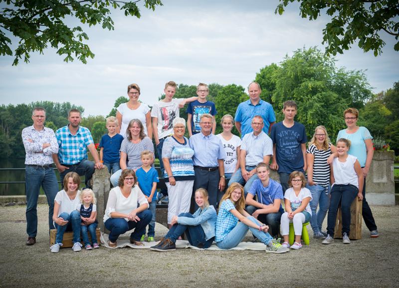 familiefoto in stadspark Groningen